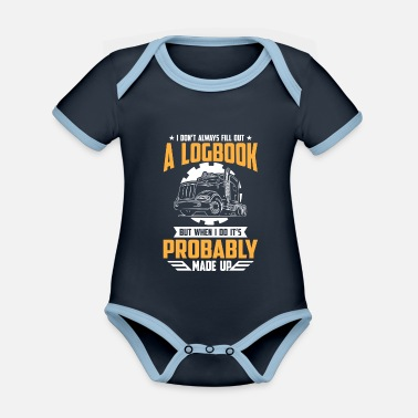 Convoi I don't always fill out a Logbook probably - Baby Bio Kurzarmbody zweifarbig