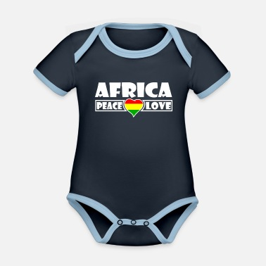 Africa Africa - Africa - Organic Contrast Baby Bodysuit