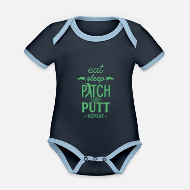 Pitch Pitch and Putt Pitch and Putt Pitch and Putt - Organic Contrast Baby Bodysuit