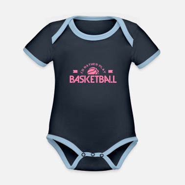 Basketball Player Basketballer basketball player basketball player - Organic Contrast Baby Bodysuit