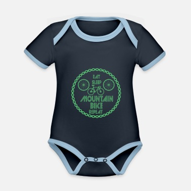 Mountainbiker Mountainbike Mountainbike Mountainbike - Baby Bio Kurzarmbody zweifarbig