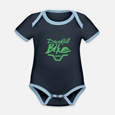 Downhill downhill - Organic Contrast Baby Bodysuit