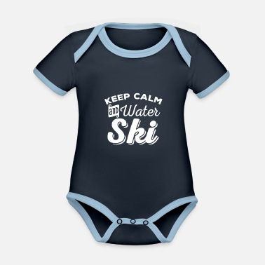 Ski Water skiing water skiing water sports water skiing skis - Organic Contrast Baby Bodysuit