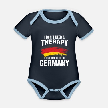 Federal State Germany therapy country federal states gift - Organic Contrast Baby Bodysuit