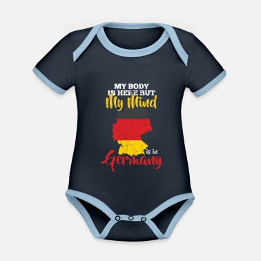Federal State Germany federal states - Organic Contrast Baby Bodysuit
