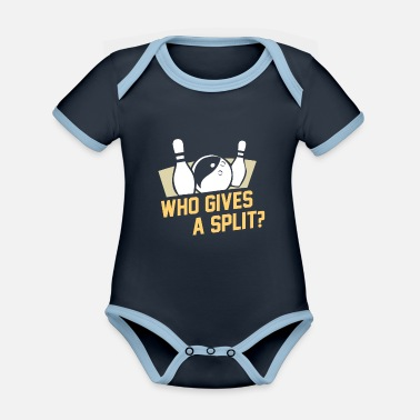 Pete Weber Bowling ball I fun in the bowling center I gift - Organic Contrast Baby Bodysuit