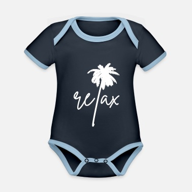 Relax Relax Relaxation Relaxation - Organic Contrast Baby Bodysuit