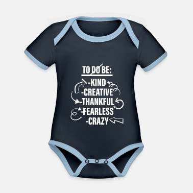 Lists To Be List - To Do List - Organic Contrast Baby Bodysuit