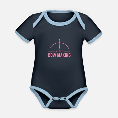 Bow Bow maker bow maker bows - Organic Contrast Baby Bodysuit