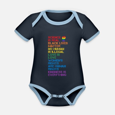 Pugno Il pugno LGBT BLM di Science Is Real Black Matter - Body neonato bicolor