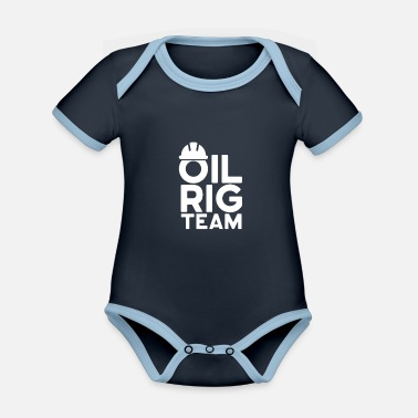Oil Rig Oil rig team oil rig job oil workers - Organic Contrast Baby Bodysuit