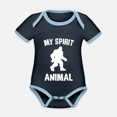 Maskot BIGFOOT MY SPIRIT ANIMAL W - Ekologisk kontrastfärgad babybody