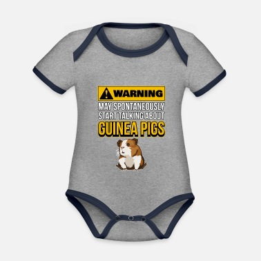 Guinea Pig May tart Talking About Guinea Pigs - Organic Contrast Baby Bodysuit