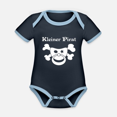 Little Pirate - Pirate Baby - Organic Contrast Baby Bodysuit