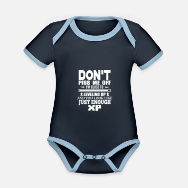 Up Close To Level Up gift for Gamers - Organic Contrast Baby Bodysuit
