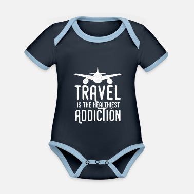 Travel travel gift holiday - Organic Contrast Baby Bodysuit