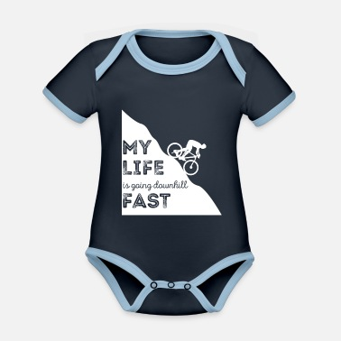 Mountainbiker Mountainbiken - Mountainbike - Mountainbiker - Baby Bio Kurzarmbody zweifarbig