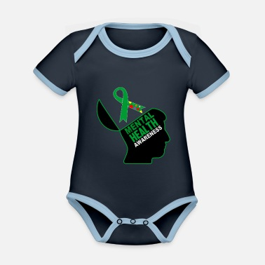 Health Be aware that mental health is important - Organic Contrast Baby Bodysuit