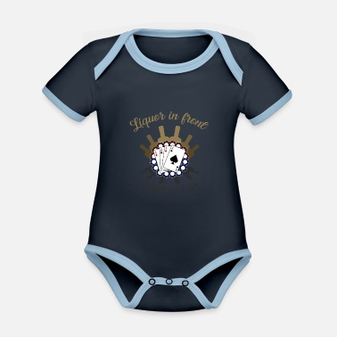 Liquor Liquor Upront Poker In The Read Drink - Organic Contrast Baby Bodysuit