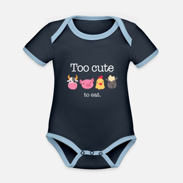 Too Cute To Eat - Organic Contrast Baby Bodysuit