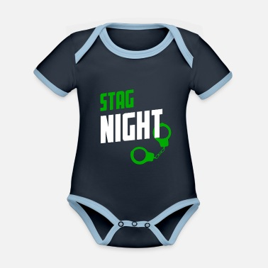 Stag Do Stag Night STAG DO - Organic Contrast Baby Bodysuit
