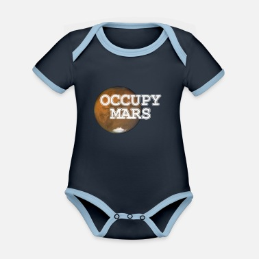 Mars Mars Occupy Mars colonization of Mars - Organic Contrast Baby Bodysuit