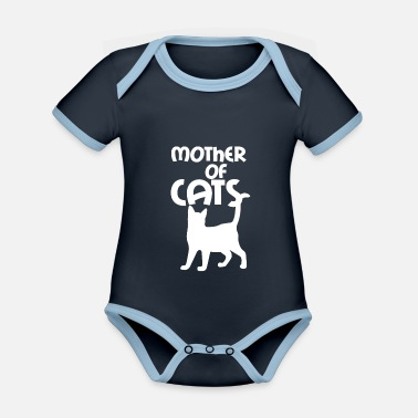 Mother of cats - Organic Contrast Baby Bodysuit