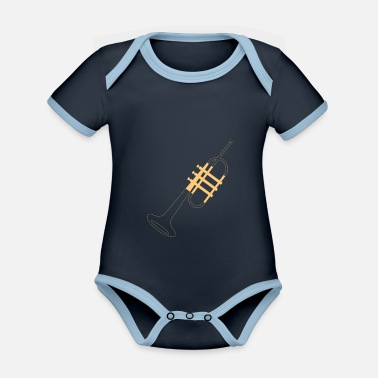 Trumpet Player Trumpet trumpet player - Organic Contrast Baby Bodysuit