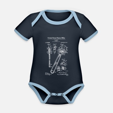 1915 Adjustable Wrench 1915 Patent Print Shirt, Wrench - Organic Contrast Baby Bodysuit