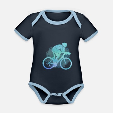 Competition Endurance running fitness cycling - Organic Contrast Baby Bodysuit