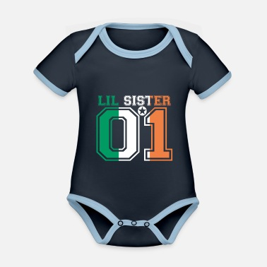 Sister Sister queen little sister 01 Ireland - Organic Contrast Baby Bodysuit
