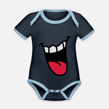 Mouth Mouth - Organic Contrast Baby Bodysuit