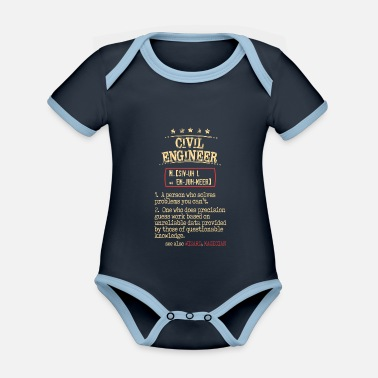 Engineer Civil Engineer - Organic Contrast Baby Bodysuit