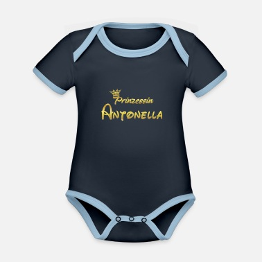 Antonella PRINCESS PRINCESS QUEEN REGALO Antonella - Body neonato bicolor