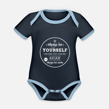 Asian Be asian - Organic Contrast Baby Bodysuit