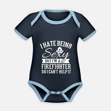 Fire Department fire Department - Organic Contrast Baby Bodysuit