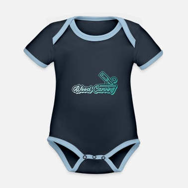 Carve To carve - Organic Contrast Baby Bodysuit
