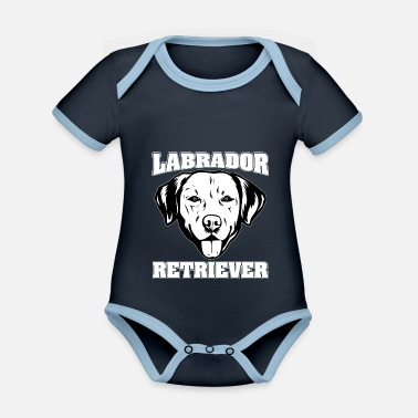 Newfoundland Labrador Retriever LABRADOR RETRIEVER dog pet - Organic Contrast Baby Bodysuit