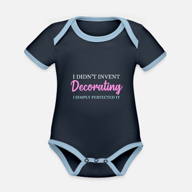 Decoration Decorate - Organic Contrast Baby Bodysuit