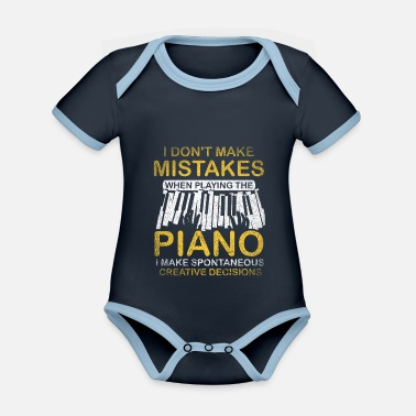 Piano Player Piano piano player - Organic Contrast Baby Bodysuit