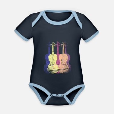 Music Violin orchestra - Organic Contrast Baby Bodysuit