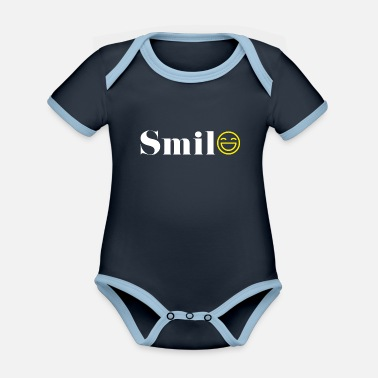 Smile Smile / Smile - Organic Contrast Baby Bodysuit