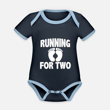 Just Jogging fitness expectant mother gift - Organic Contrast Baby Bodysuit