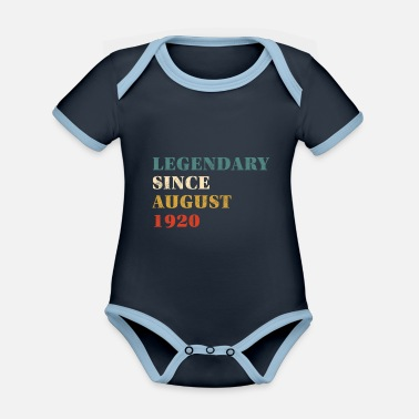 Since 1920 Legendary Since August 1920 - Organic Contrast Baby Bodysuit
