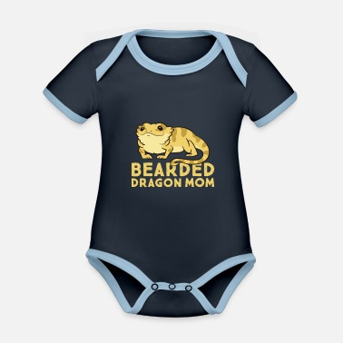 Krybdyr Bearded Dragon Mom Lizard Cute bearded dragon - Økologisk kontrast babybody
