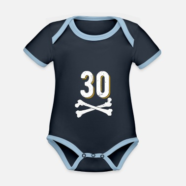 1991 30th birthday - Organic Contrast Baby Bodysuit