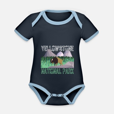 Helped Dome Nature Lover Yellowstone National Park Animal Gift - Organic Contrast Baby Bodysuit