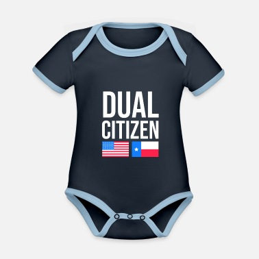 United Two-citizen Texan design for fans of the lone - Organic Contrast Baby Bodysuit
