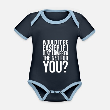 Addiction Tennis gifts for tennis players, lovers or - Organic Contrast Baby Bodysuit