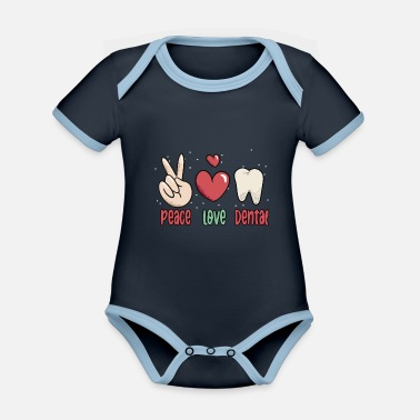 Dentist dental assistant orthodontist profession - Organic Contrast Baby Bodysuit